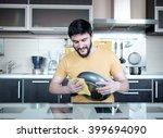 attractive caucasian man... | Shutterstock . vector #399694090