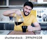 funny cooking. attractive...   Shutterstock . vector #399694108