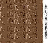 seamless  pattern of zodiac... | Shutterstock .eps vector #399694489