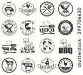 set of butcher shop labels  | Shutterstock .eps vector #399706630