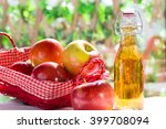apple cider vinegar with a... | Shutterstock . vector #399708094