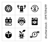 set icons of electric car | Shutterstock .eps vector #399709699