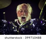BYRON BAY, AUSTRALIA - MARCH 26 :The Mick Fleetwood Blues Band plays on the Crossroads stage at the 2016 Byron Bay Bluesfest. 27th annual Blues and Roots festival.  - stock photo