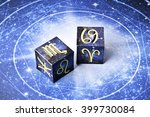 astrology cubes with zodiac... | Shutterstock . vector #399730084