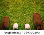 shoes in father  and son or... | Shutterstock . vector #399730390
