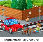 injured bike accident on the... | Shutterstock .eps vector #399735070