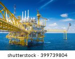 oil and gas processing platform ... | Shutterstock . vector #399739804
