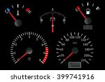 dashboard with gauge.... | Shutterstock .eps vector #399741916