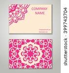 vector vintage business card...   Shutterstock .eps vector #399743704