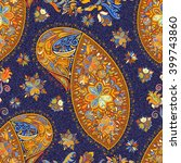 paisley vintage floral motif... | Shutterstock .eps vector #399743860