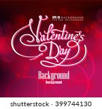valentines day flyer. vector... | Shutterstock .eps vector #399744130