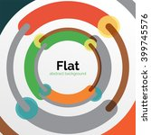 geometric swirl and circle... | Shutterstock .eps vector #399745576