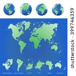 world map countries colorful.... | Shutterstock .eps vector #399746359