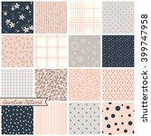 vector seamless patterns. can... | Shutterstock .eps vector #399747958