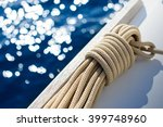 Yachting Detail   Rope On Deck  ...