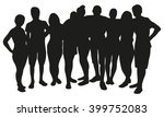 group of people silhouette | Shutterstock .eps vector #399752083