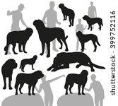 st. bernard dog. set of... | Shutterstock .eps vector #399752116