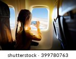 adorable little girl traveling... | Shutterstock . vector #399780763