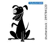 dog icon   vector illustration. | Shutterstock .eps vector #399784120