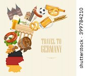 germany travel poster. trip... | Shutterstock .eps vector #399784210