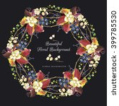 Watercolor Wreath Of Leaves An...