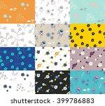 wild flower set of spring field ... | Shutterstock .eps vector #399786883