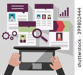 recruitment through the... | Shutterstock .eps vector #399802444