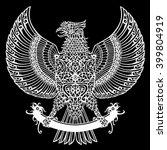 eagle tribal tattoo motif dayak ... | Shutterstock .eps vector #399804919