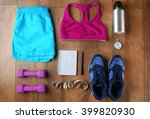 athlete's set with female... | Shutterstock . vector #399820930