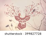 the deer head with forest... | Shutterstock . vector #399827728