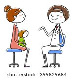 female doctor and patient.... | Shutterstock .eps vector #399829684