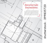 vector technical blueprint of ... | Shutterstock .eps vector #399835720