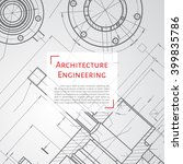 vector technical blueprint of ...   Shutterstock .eps vector #399835786