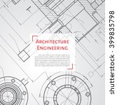 vector technical blueprint of ... | Shutterstock .eps vector #399835798