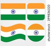 india flag set | Shutterstock .eps vector #399836320