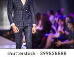 a male model walks the runway...   Shutterstock . vector #399838888