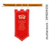 medieval banner flag | Shutterstock .eps vector #399839350