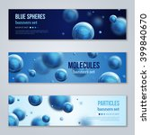 set of horizontal banners with... | Shutterstock .eps vector #399840670