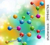 abstract multicolor molecule on ... | Shutterstock .eps vector #399840766