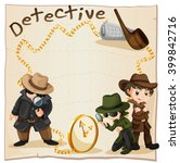 detectives looking for clues... | Shutterstock .eps vector #399842716