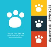 vector illustration of paw icon ...