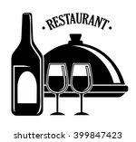 wine and restaurant icon design ...   Shutterstock .eps vector #399847423
