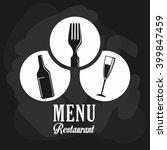 wine and restaurant icon design ... | Shutterstock .eps vector #399847459