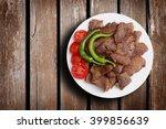 traditional turkish doner kebab.... | Shutterstock . vector #399856639