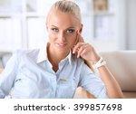 attractive businesswoman... | Shutterstock . vector #399857698
