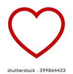 perfect heart   romantic love... | Shutterstock .eps vector #399864433