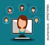 online community design  | Shutterstock .eps vector #399874984