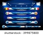 info graphic statistics   soccer | Shutterstock .eps vector #399875800