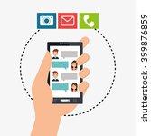 mobile chat design  | Shutterstock .eps vector #399876859