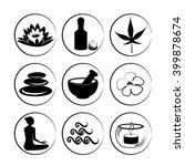 set of spa  yoga and ayuverda... | Shutterstock .eps vector #399878674
